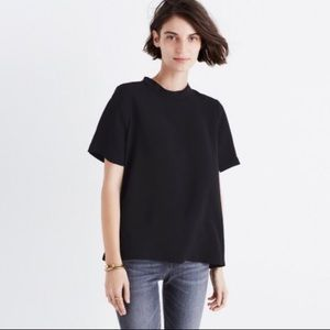 Madewell Mock-neck Button Back Blouse